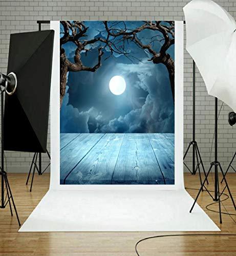 Hot Sale!DEESEE(TM)Halloween Backdrops Pumpkin Vinyl 3x5FT Lantern Background Photography Studio (F)
