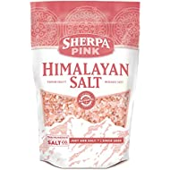 Sherpa Pink Authentic Himalayan Coarse Salt 2 lb. Bulk Bag - Ideal for Salt Grinders & Salt Mills