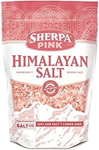 Sherpa Pink Authentic Himalayan Coarse Salt 2 lb. Bulk Bag - Ideal for Salt Grinders & Salt Mills