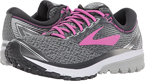 6e05e5404102f Galleon - Brooks Women s Ghost 10 Grey White Pink 10.5 B US