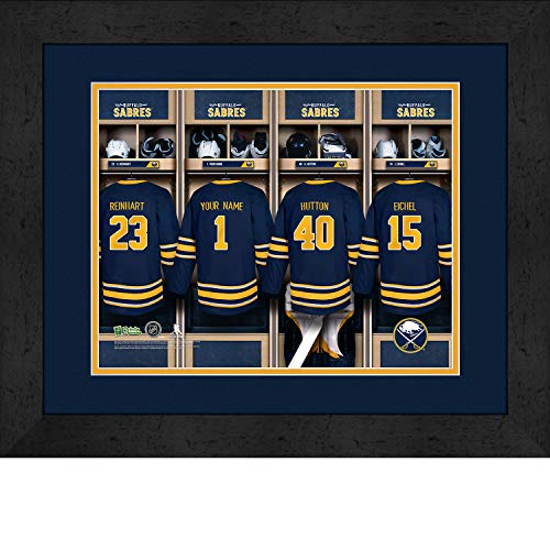 Prints Charming Locker Room Buffalo Sabres Framed Posters 16x12 Inches