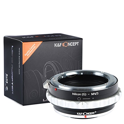 K&F Concept Lens Mount Adapter Nikon G Lens to M43 Micro Four Thirds M43 System Camera Adapter GF2 GF3 G2 G3 GH2 E-PL3 PM1