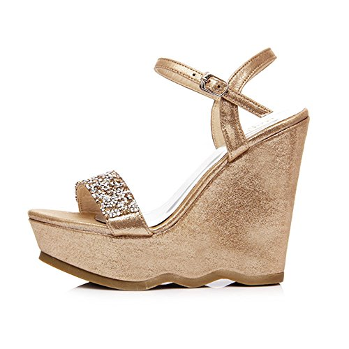 Sandals Amazing Summer Shoes Wedges Platform Thick Bottom Rhinestone High Heels (Color : C, Size : EU36/UK3.5/CN35) A