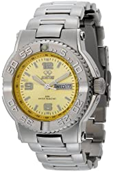 REACTOR Men's 74607 Critical Mass Yellow Dial Stainless Steel Watch