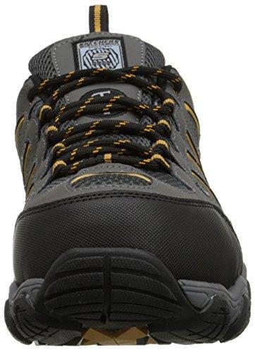 Skechers Lavoro 77051 Blais Acciaio-toe escursionismo scarpe Dark Gray Entrega Rápida Envío Libre SCmOG