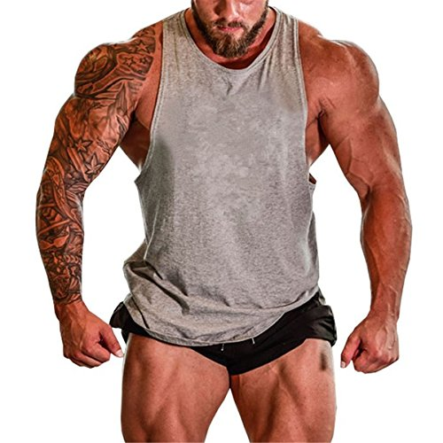 Muscle killer mens gym tank tops muscle cut stringer for Dress shirts for bodybuilders