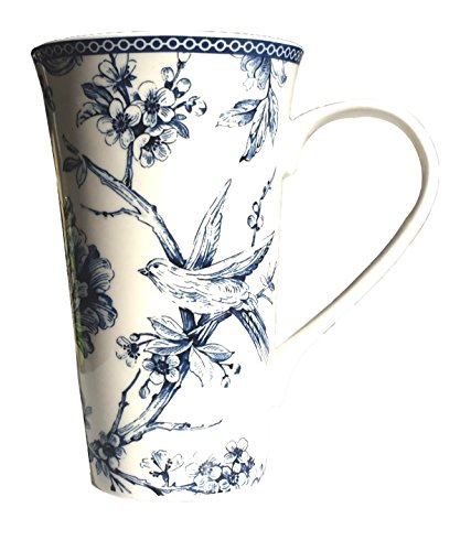 222 Fifth Beautiful Single Adelaide Blue  Porcelain Coffee