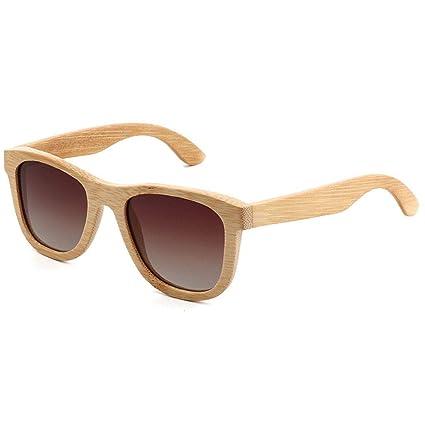 Gafas sol Madera De Bambú Hechas A Mano de La Vendimia Gafas Revestidas de Moda Unisex