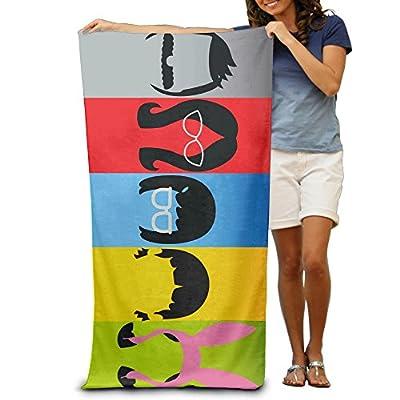 OKGOO Bobs Burgers Happy Family Beach Towel For Adults / 31.5'' * 51.2''