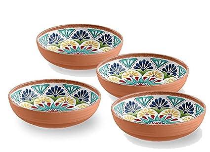 Terracota estilo mediterráneo de melamina Picnic/barbacoa/buffet Ensalada de Fruta de comedor al