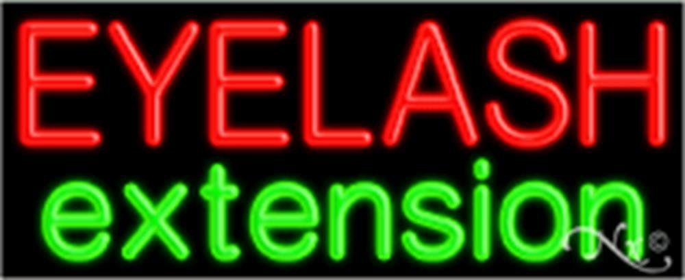 13x32x3 inches Eyelash Extension NEON Advertising Window Sign