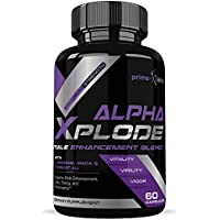Alpha Xplode Natural Testosterone Booster For Men For Muscle Growth to Increase Stamina, Energy and Strength, Ideal for Bodybuilders - 60 Capsules