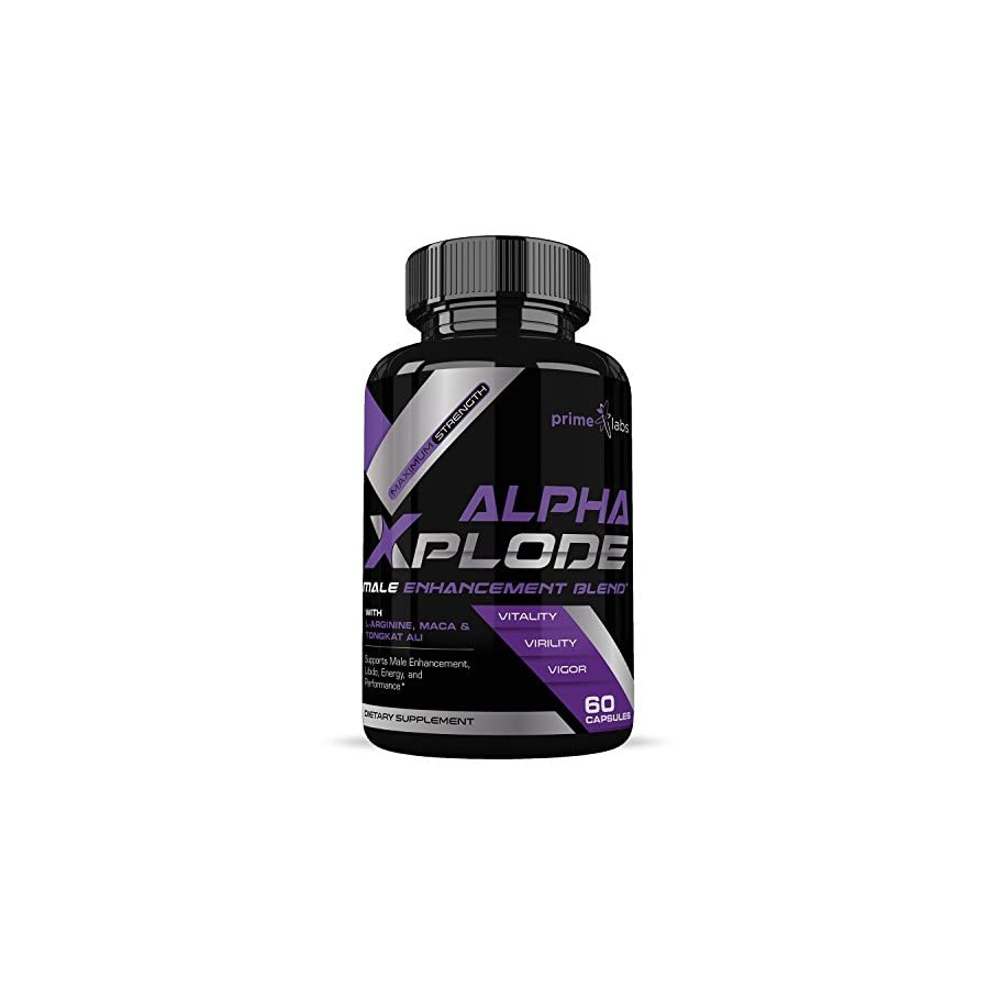 Alpha Xplode Natural Testosterone Booster For Men For Muscle Growth to Increase Stamina, Energy and Strength, Ideal for Bodybuilders 60 Capsules