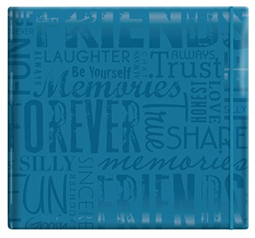 MCS MBI 13.5x12.5 Inch Embossed Gloss Expressions Scrapbook Album with 12x12 Inch Pages, Teal, Embossed