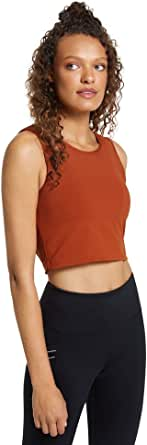 Rockwear Activewear Women's Autumn Haze Elastic Trim Crop from Size 4-18 for Singlets Tops