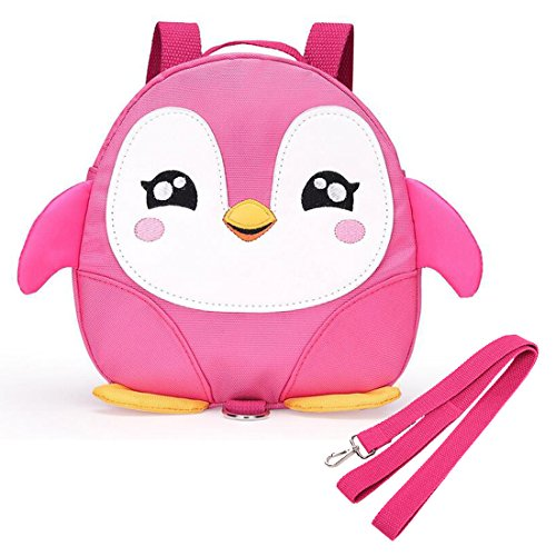 Baby Kids Toddler Walking Backpack Reins Bag(Pink) - 8