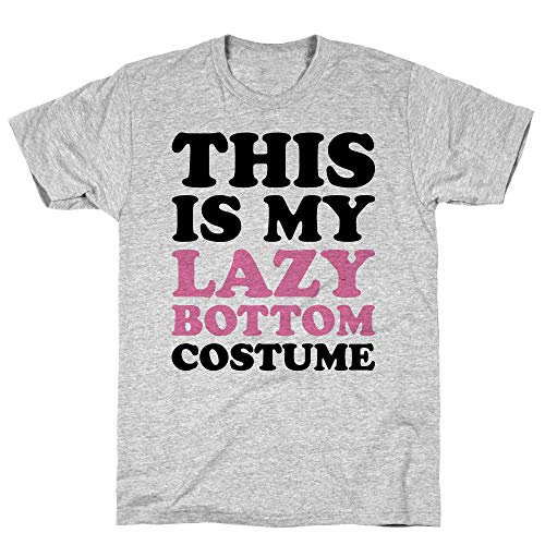 LookHUMAN This is My Lazy Bottom Costume Large Athletic Gray Men's Cotton -