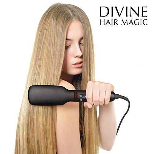 Mamzelle O Iondict - Cepillo alisador electrico con emision de iones negativos, 30 W, color negro: Amazon.es: Salud y cuidado personal