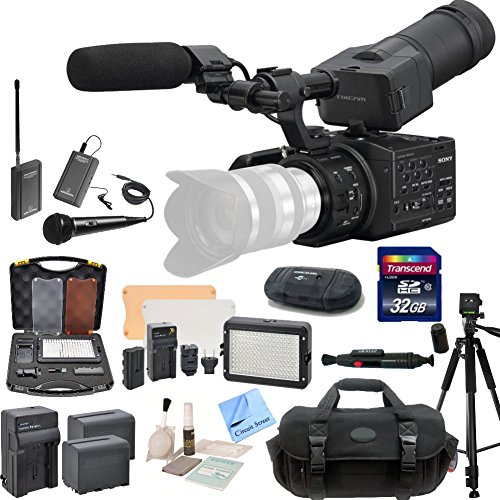 sony nex fs100uk super 35 camcorder body cs interview documentary kit includes wireless. Black Bedroom Furniture Sets. Home Design Ideas