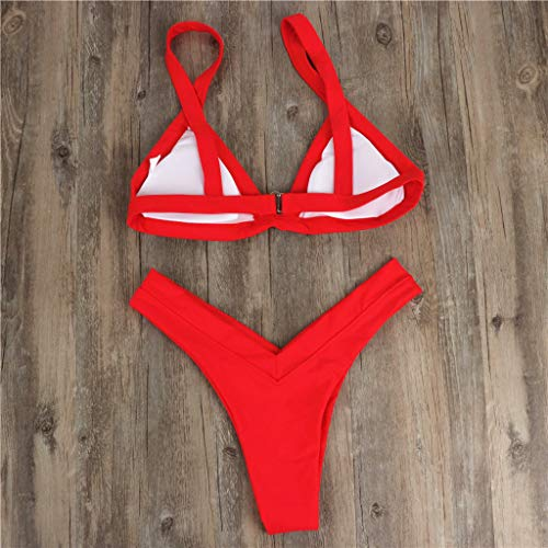 Damen High Waist Bikini Set Push Up Bademode Badeanzug Tankini Top Schwimmanzug