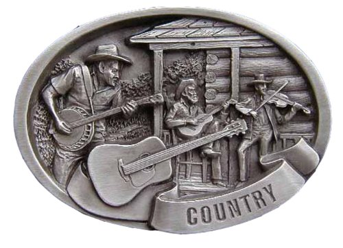 Country Music Scene Novelty Belt - Scene Buckle