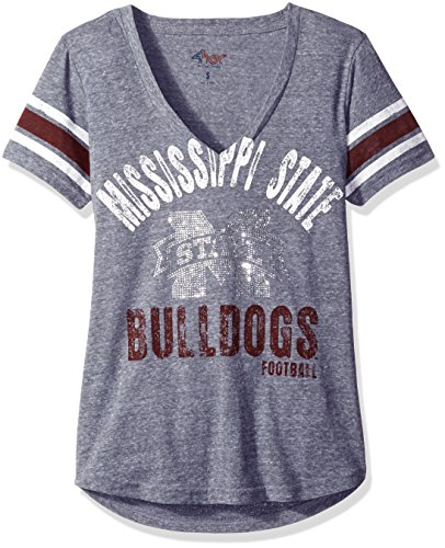 NCAA Mississippi State Bulldogs Women's Any Sunday Tee, Medium, Heather Grey