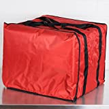 American Metalcraft PB1914 19'' x 19'' x 14'' Deluxe Insulated Red Pizza Delivery Bag with Rack