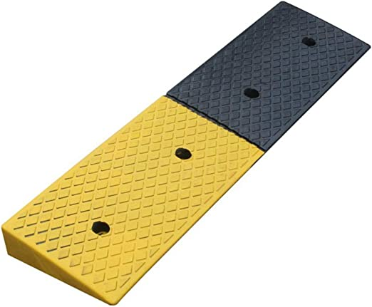 Color : Black, Size : 100x25x6cm Rubber Ramp Rubber Road Along The Slope 6cm Step Pad Triangle Door Mat Street Along The Slope Road Along Rubber Ramps for Curb