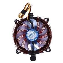 Alloet CPU Quiet Cooler Cooling Fan Heatsink Radiating Fan for Intel LGA 775/115X AMD AM2/75