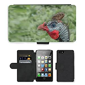 hello-mobile PU LEATHER case coque housse smartphone Flip bag Cover protection // M00137231 Cockscomb Hahn Animal Aves Gockel // Apple iPhone 4 4S 4G