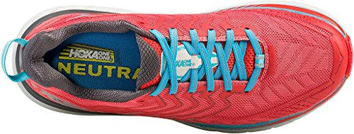 Hoka One One Damen Clifton 4 Laufschuh Dubarry / Grenadine