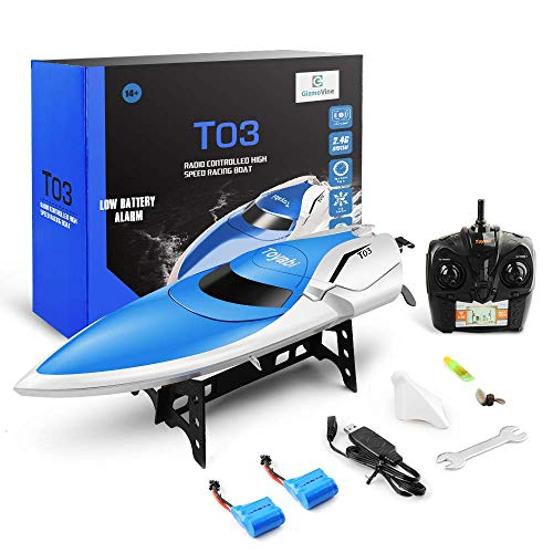 GizmoVine Remote Control Boat, 2.4GHz High Speed Electric RC Boat for Pools...