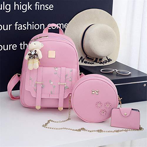 ricamata a per popolare Fsweeth tracolla Borsa Lady dolce abito rosa con qtWT5wU5O