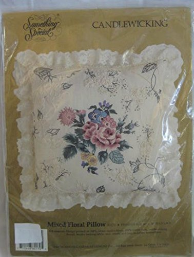 Something Special Candlewicking Mixed Floral Pillow #80170 ()