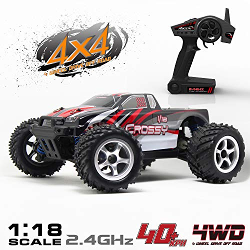 VOLANTEXRC Remote Control Truck Off-Road Racing Car 785-1 Monster Truck 1:18 Scale 4WD RC Vehicle RTR High Speed 40kph for Kids & Adults