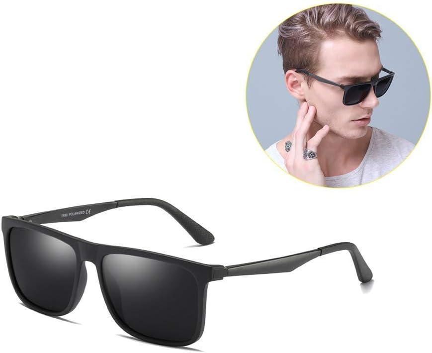 ZGYQGOO Gafas de Sol polarizadas Ligeras Lentes de visión HD para Hombres Europeos estadounidenses Gafas de conducción Visión Clara, Brillante