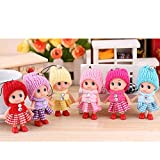 6 Pcs Amazing Color Randomly Decoration Christmas Festival Holiday Gift Baby Dolls Confused Baby Bag Accessories 8cm