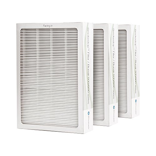 Blueair Classic Replacement Filter, 500/600 Series Genuine SmokeStop Filter, Odor Removal Classic 501, 503, 510, 550E, 555EB, 601, 603, 650E, 505, 605