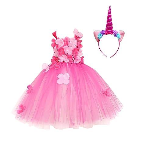 TENDYCOCO Disfraz de Unicornio para niñas Unicornio Cuerno ...