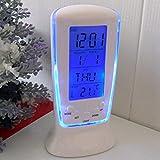 YOHAPP Digital Alarm Clock LED Mini With Blue Backlight (Size