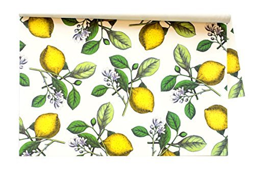 Kitchen Papers Lemons Disposable Placemats - 30 Sheets/Pack Made in USA by Hester & Cook (Image #1)