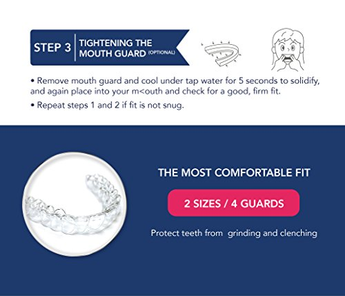 Mouth Guard for Teeth Grinding, Professional Dental Guard And Sleep Aid Custom Fit Night Dental Guard With Case For Sleeping by Arishine (Image #4)
