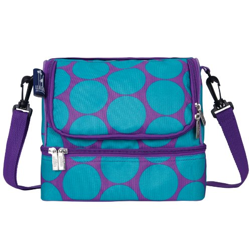 big-dots-aqua-double-decker-lunch-bag