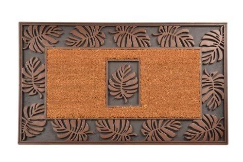 No Trax Designs C04S2236CL Leaf Cocoa Door Mat, 22