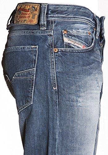 """Diesel Straight-Cut Jeans LARKEE 008B9 8B9 dunkelblau """"used look"""""""