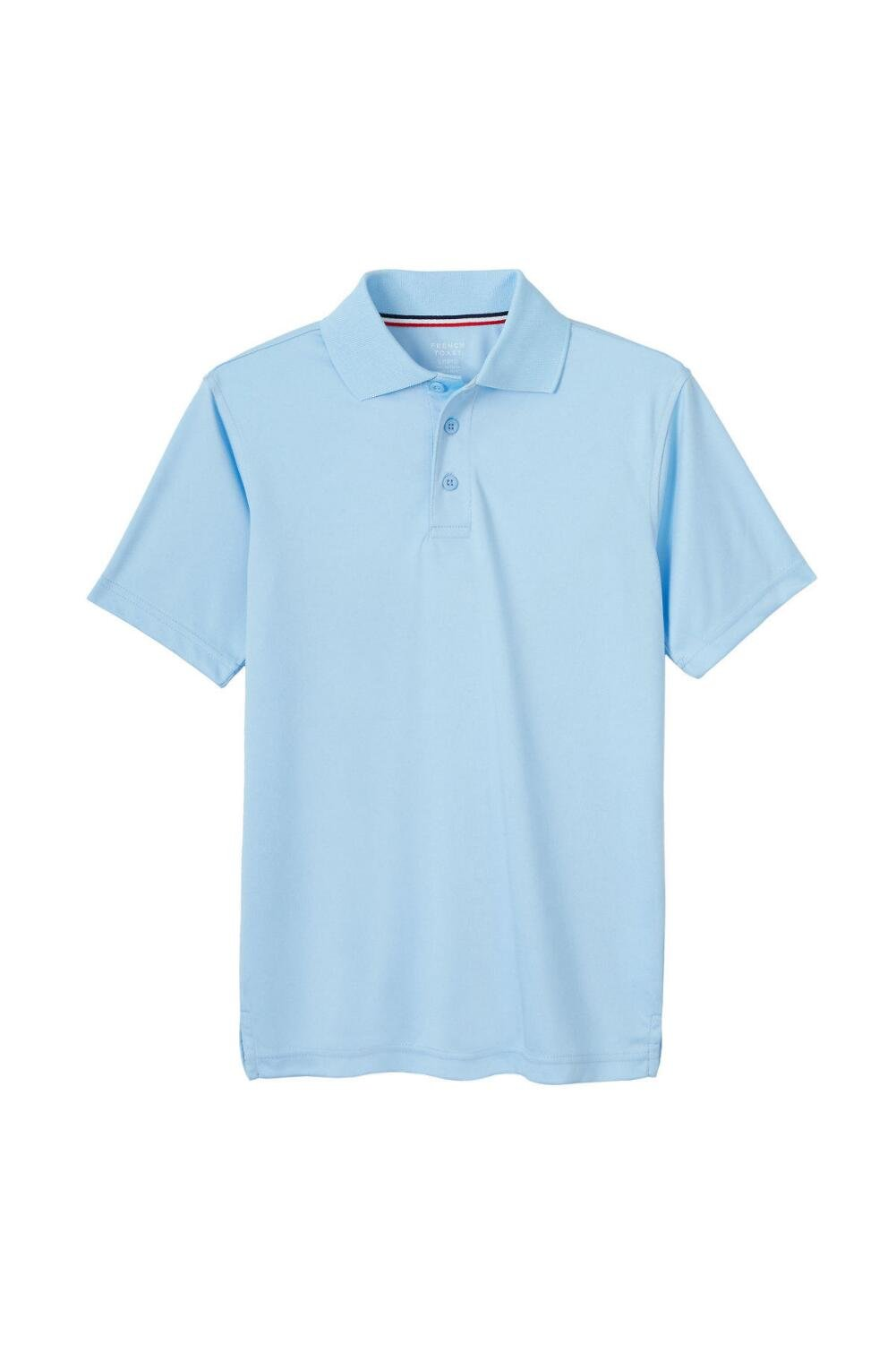 French Toast Boys' Little Short Sleeve Stretch Sport Polo, Light Blue, S (6/7)
