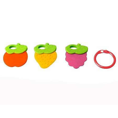 Amazon.com: Juego de mordedores de silicona suave para bebés ...