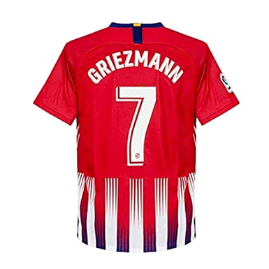 promo code 394a6 f2ffe TINGYWANM Atletico Madrid Mens 18-19 Season #7 Griezmann Home Soccer Jersey  Color Red