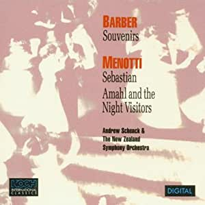 Barber: Souvenirs / Menotti: Sebastian; Introduction, March, and Shepherd's Dance from Amahl and the Night Visitors
