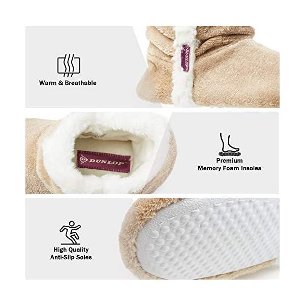 Dunlop Pantofole Donna Invernali Carine e Comode, Pantofole a Stivaletto Imbottite Calde Memory Foam, Pantofola da Casa Invernale, Regalo Festa della Mamma, Compleanno